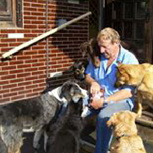 Joachim Jung in der Hundepension